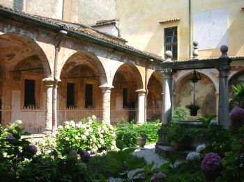 Beata Vergine delle Grazie Sanctuary, view of the cloister