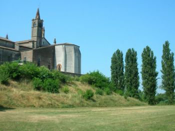 Beata Vergine delle Grazie Sanctuary, view from the Mincio Valley